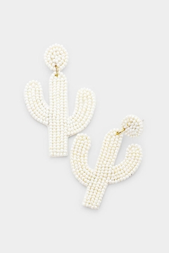 Shoptiques Product: Cactus Drop Earrings
