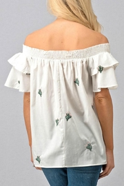 Modern Emporium Cactus Embroidered Smocked - Back cropped