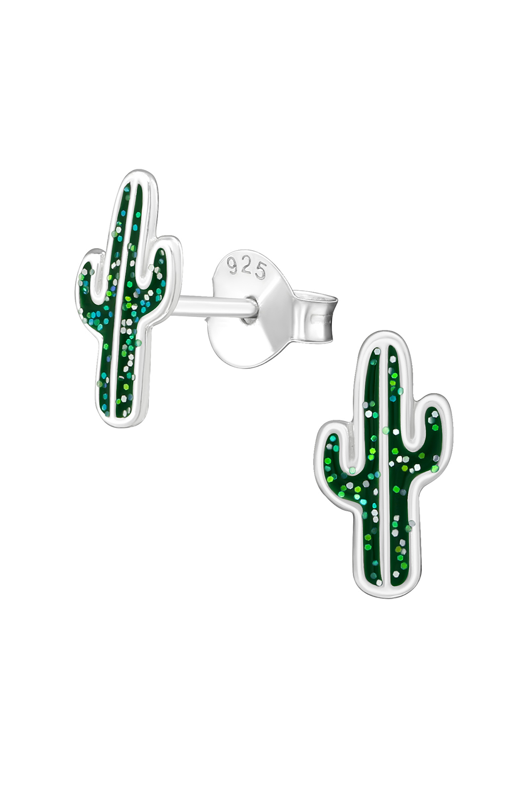 Silver Jewels Cactus Silver Stud Earrings - Main Image