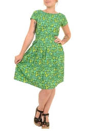 Pink Poodle Boutique Cactus Skater Dress - Front cropped