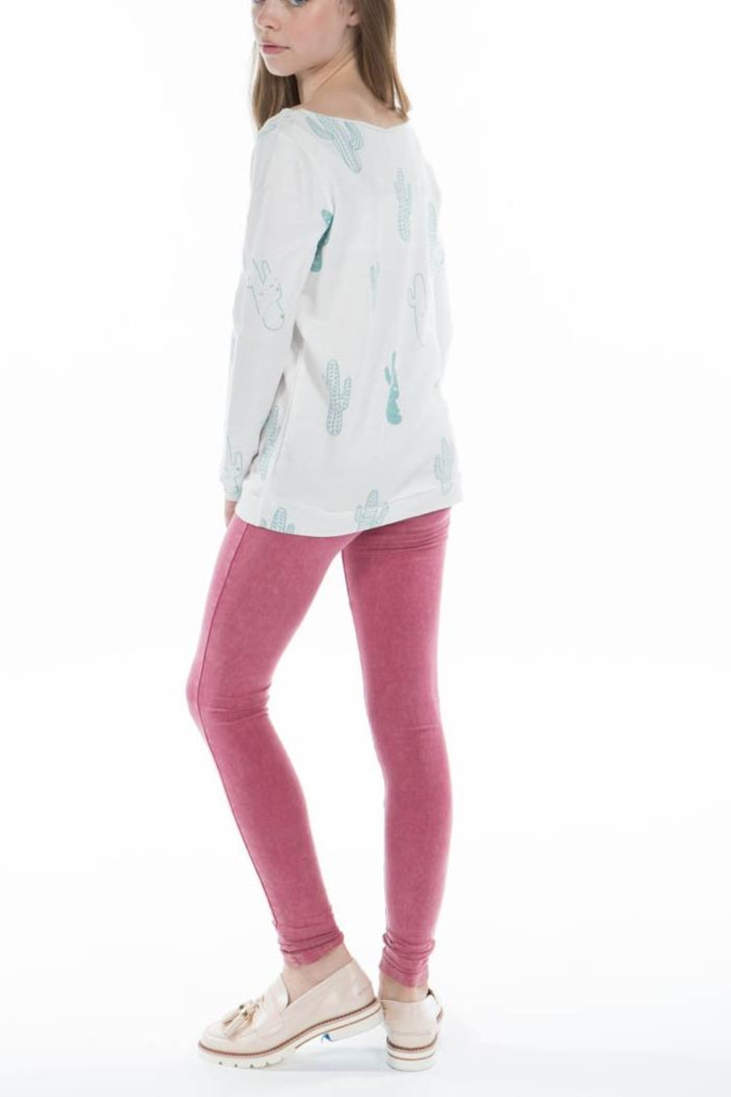 PPLA Cactus Slouch-Knit Top - Front Full Image