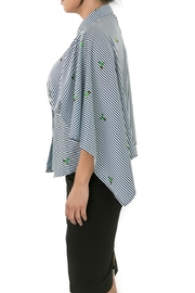 CQ By Caribbean Queen Cactus Stripe Top - Back cropped
