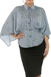 CQ By Caribbean Queen Cactus Stripe Top - Product Mini Image