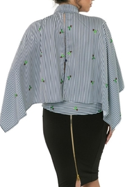 CQ By Caribbean Queen Cactus Stripe Top - Side cropped