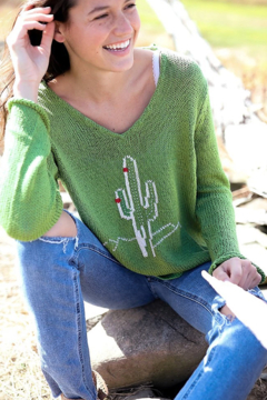 Wooden Ships Cactus Sweater - Product List Image
