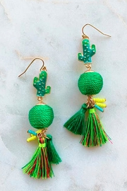 Wild Lilies Jewelry  Cactus Tassel Earrings - Product Mini Image