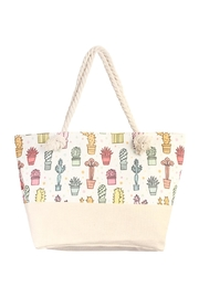 Riah Fashion Cactus Tote Bag - Product Mini Image