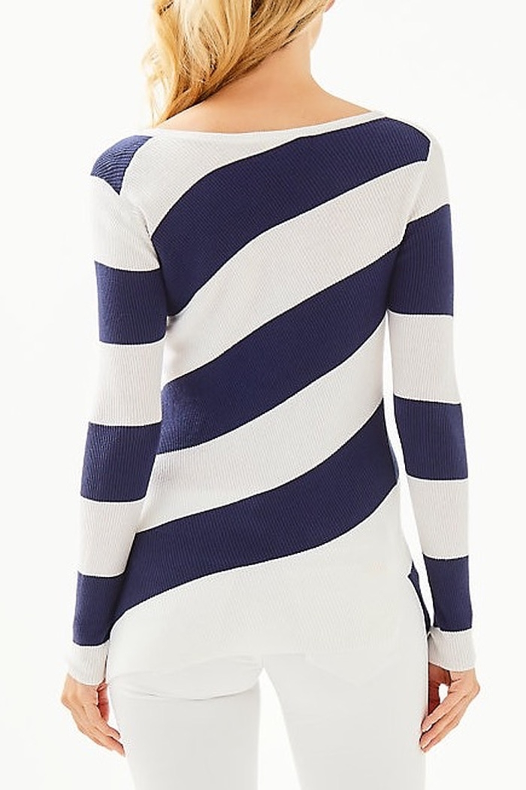 Lilly Pulitzer Cadee Striped Sweater - Front Full Image