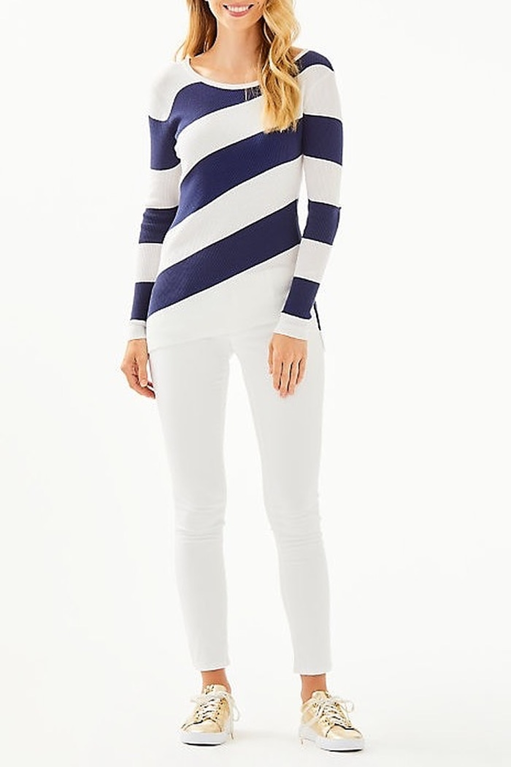 Lilly Pulitzer Cadee Striped Sweater - Side Cropped Image