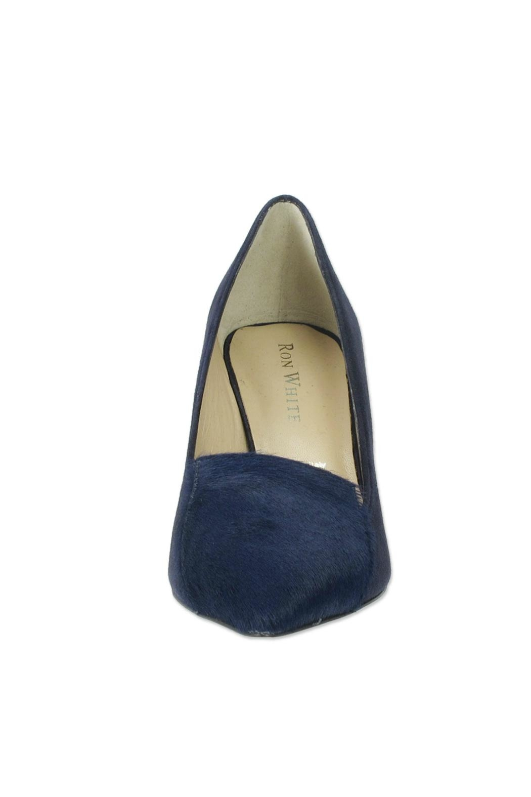 Ron White Cadence Navy Pump - Front Full Image