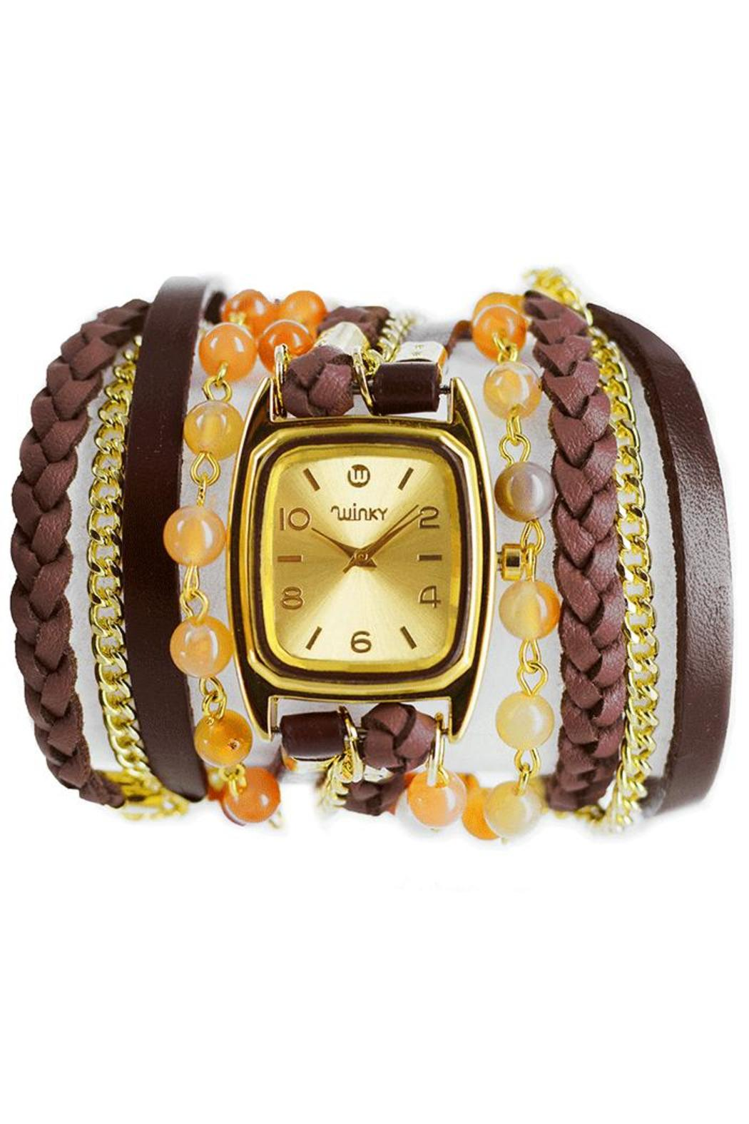 Winky Designs Natural Carnelian Wrap Watch - Main Image