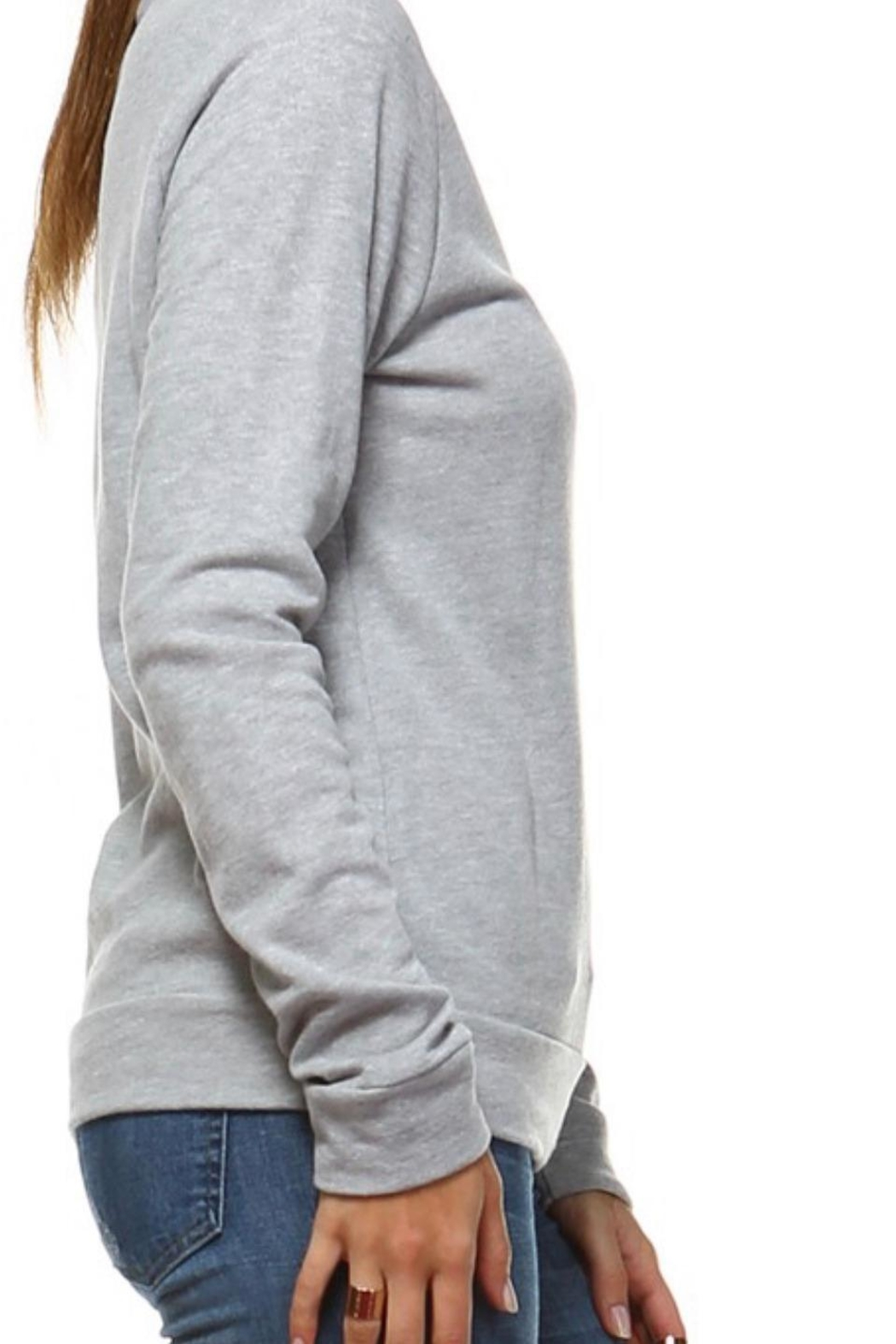 Rock Rose Couture Caffeine-And-Sarcasm Sweatshirt - Front Full Image