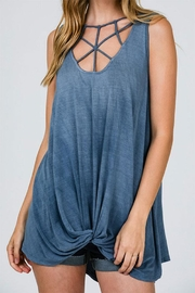 CY Fashion Cage Detail Sleeveless-Top - Front full body