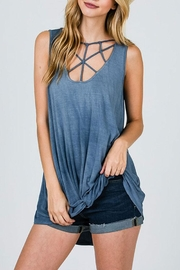 CY Fashion Cage Detail Sleeveless-Top - Front cropped