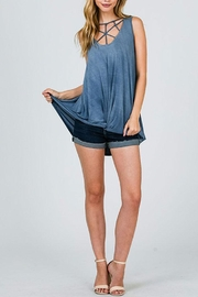 CY Fashion Cage Detail Sleeveless-Top - Side cropped