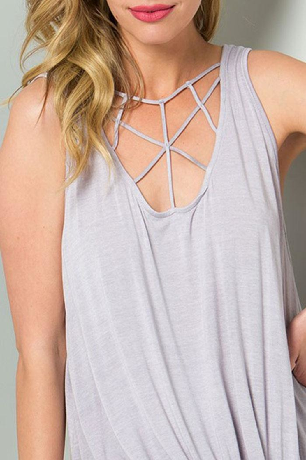 CY Fashion Cage Detail Sleeveless-Top - Front Cropped Image