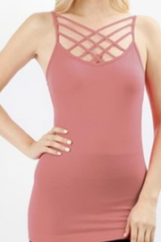 Zenana Outfitters Caged Long Tank - Product Mini Image