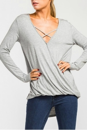 Cherish Caged Overlap Blouse - Product Mini Image