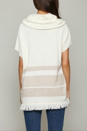 FATE by LFD Cahsmere striped poncho - Front full body