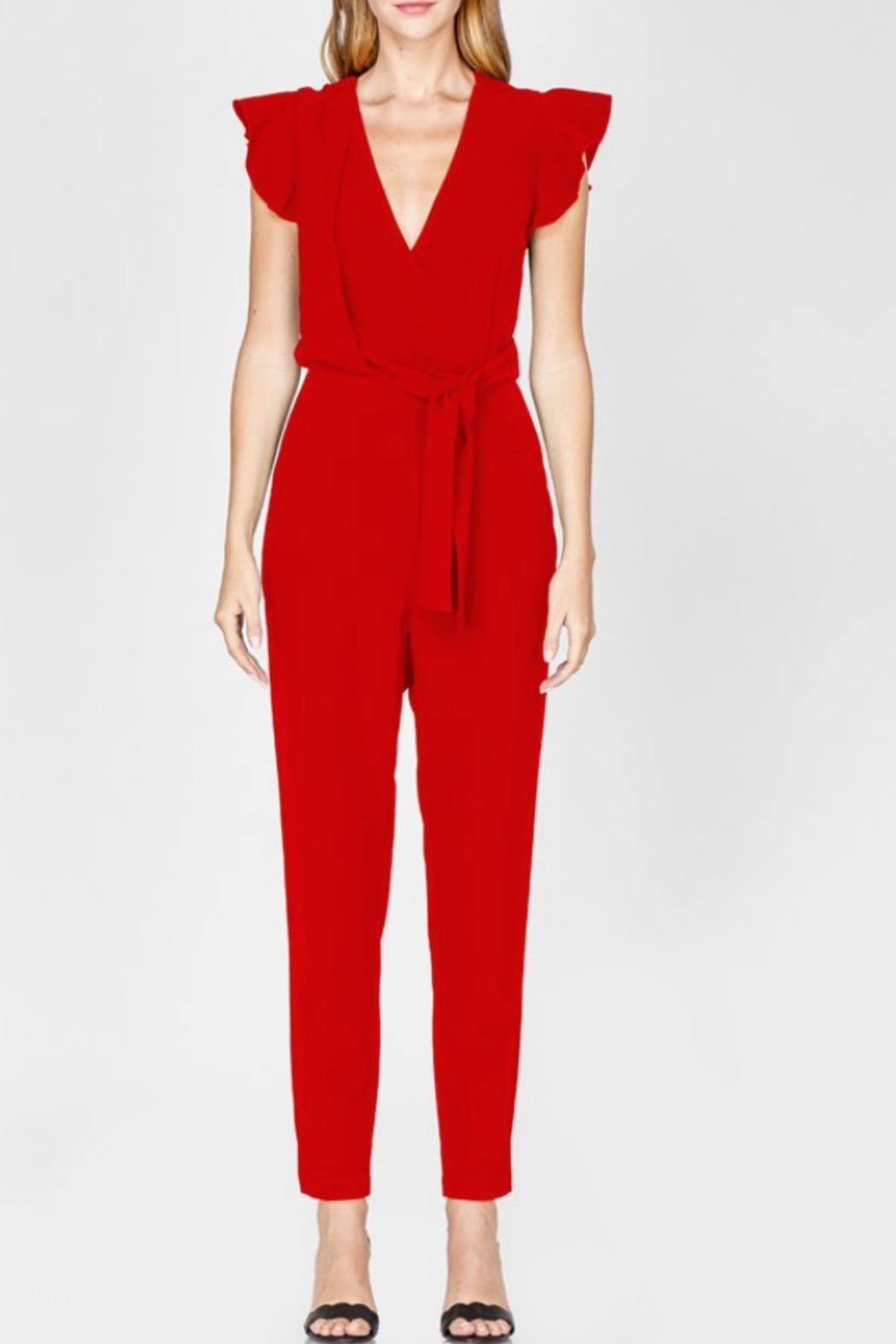 Adelyn Rae Cai Ruffle Jumpsuit - Front Full Image