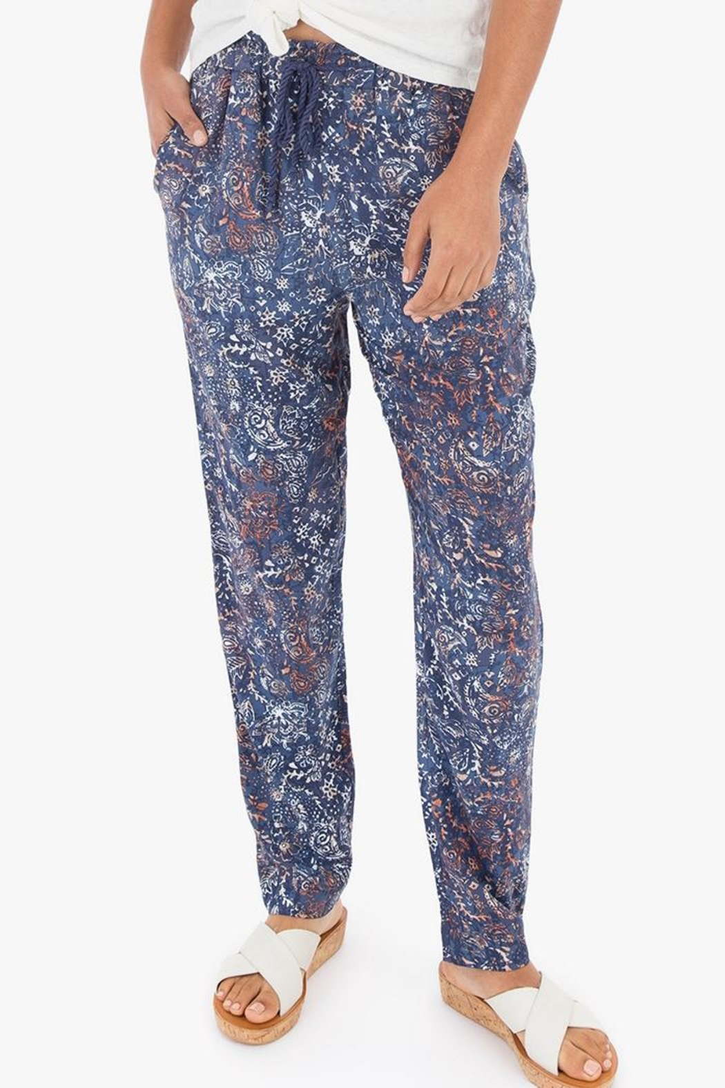 rag poets Caicos Paisley Pant - Front Cropped Image
