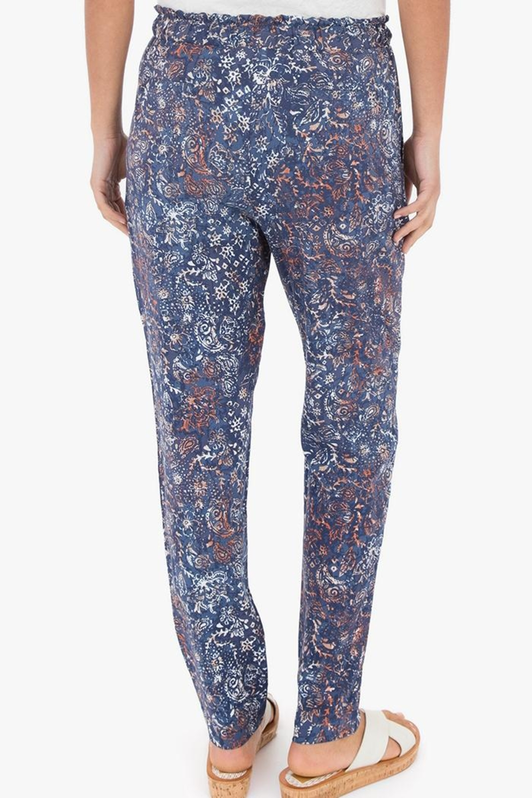 rag poets Caicos Paisley Pant - Front Full Image