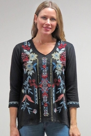 Caite & Kyla Embroidered Cotton Top - Product Mini Image