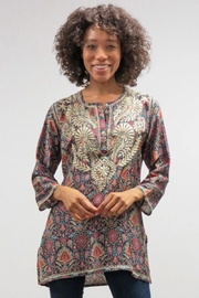 Caite & Kyla Embroidered Relaxed Tunic - Product Mini Image