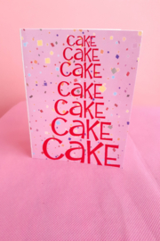 Carla Sue Greeting Cards Cake Card - Front cropped