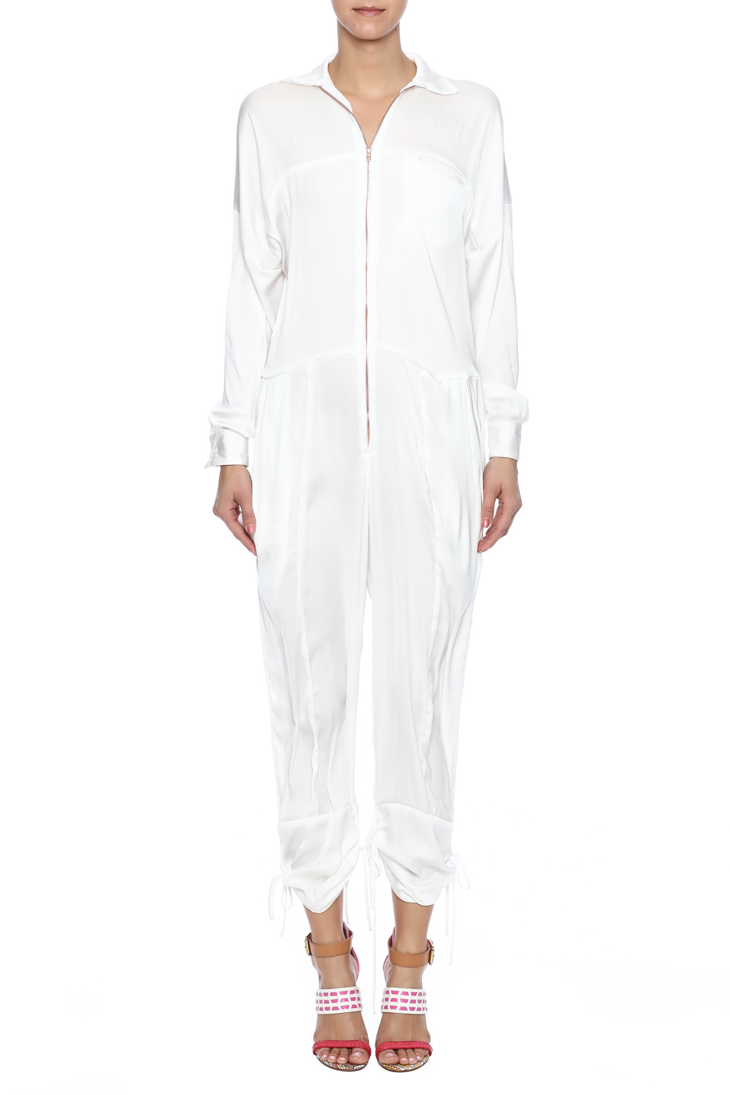 Cali Dreaming Flight Jumpsuit - Front Cropped Image