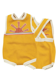 Angel Dear California Dreaming Vintage Knit Sunsuit - Front cropped