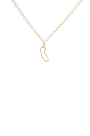 Kris Nations California Outline Small Necklace - Product Mini Image