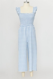Calista Gingham Jumpsuit - Front cropped