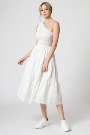 Calista One-Shoulder Ditsy Dress - Front full body
