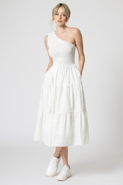 Calista One-Shoulder Ditsy Dress - Front cropped