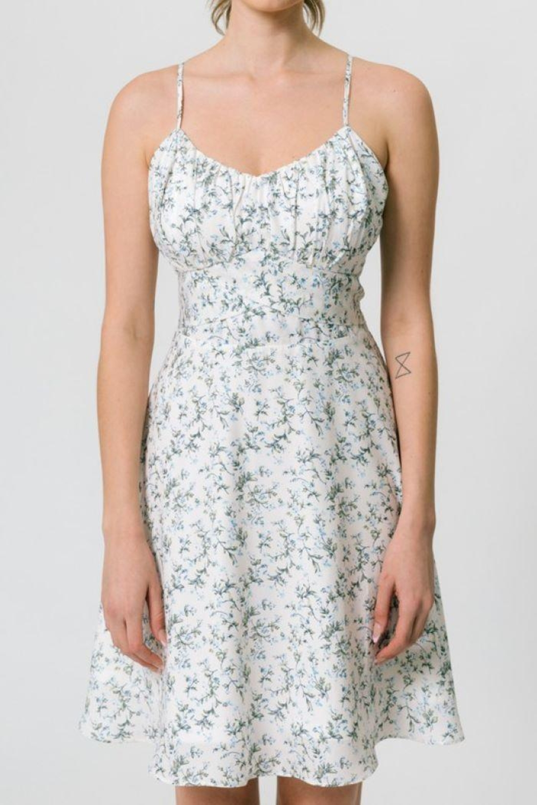 CALISTA TOOLS Flower Printed Cami Dress - Front Full Image