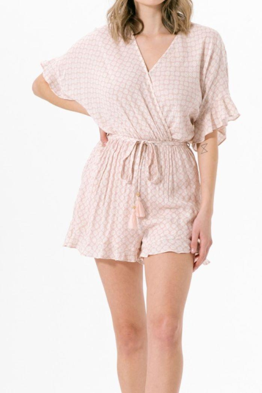 CALISTA TOOLS Medallion Printed Surplus Romper - Side Cropped Image