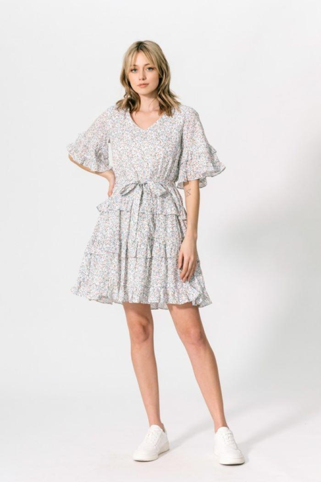 CALISTA TOOLS Ruffle Knee Dress - Main Image