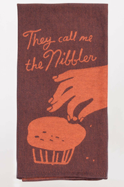 Blue Q Call me a nibbler dish towel - Front cropped