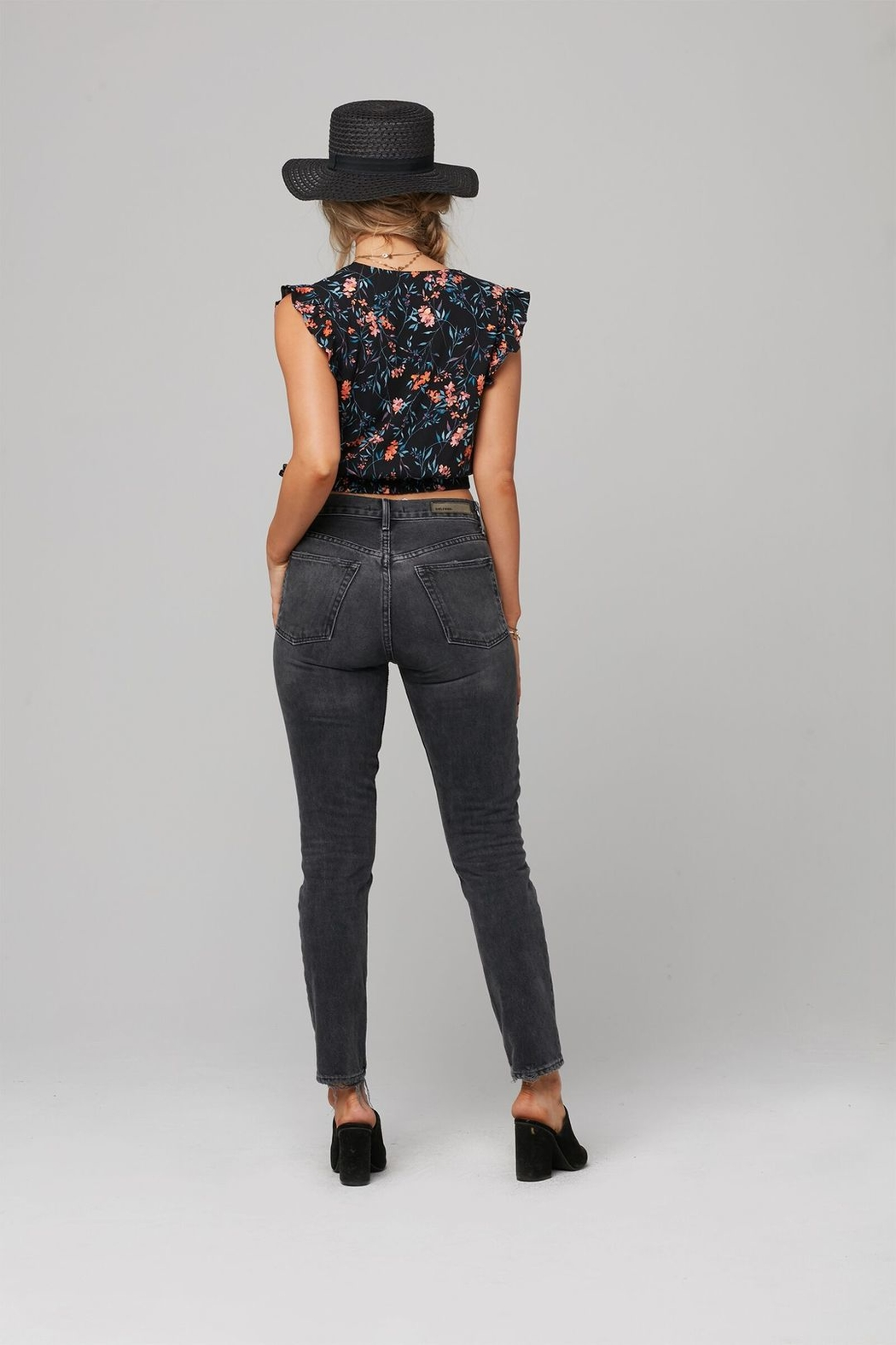 Knot Sisters Calla Wrap Top - Front Full Image