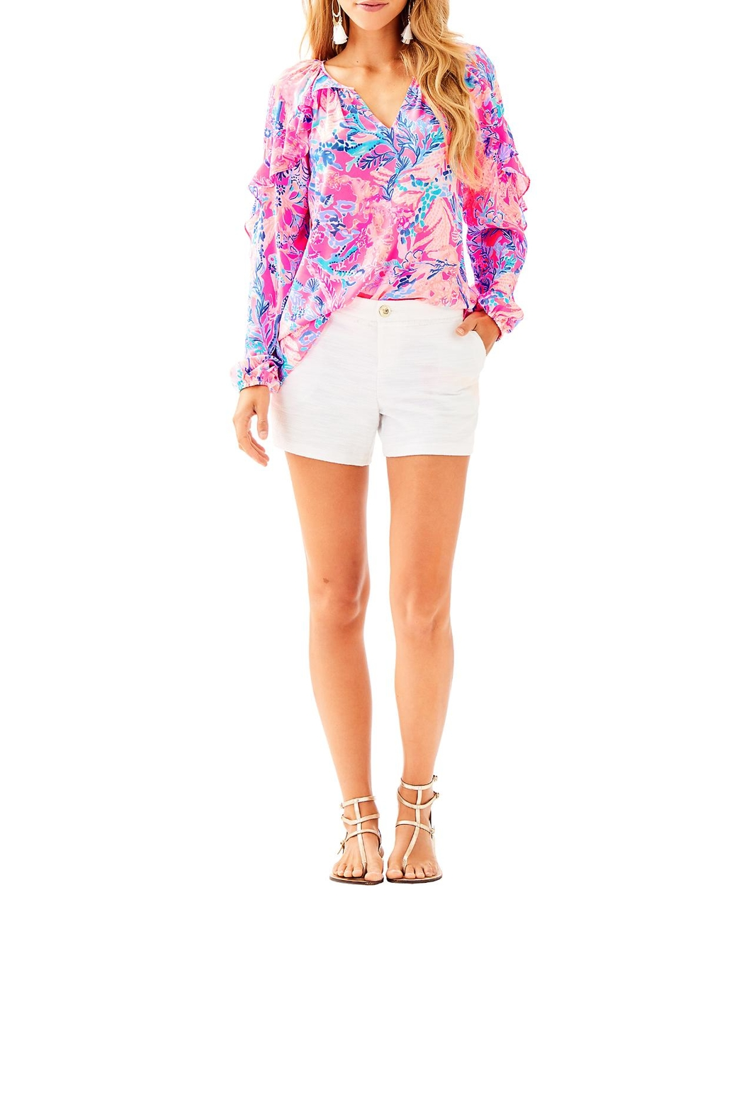 Lilly Pulitzer Callahan Party Short - Back Cropped Image