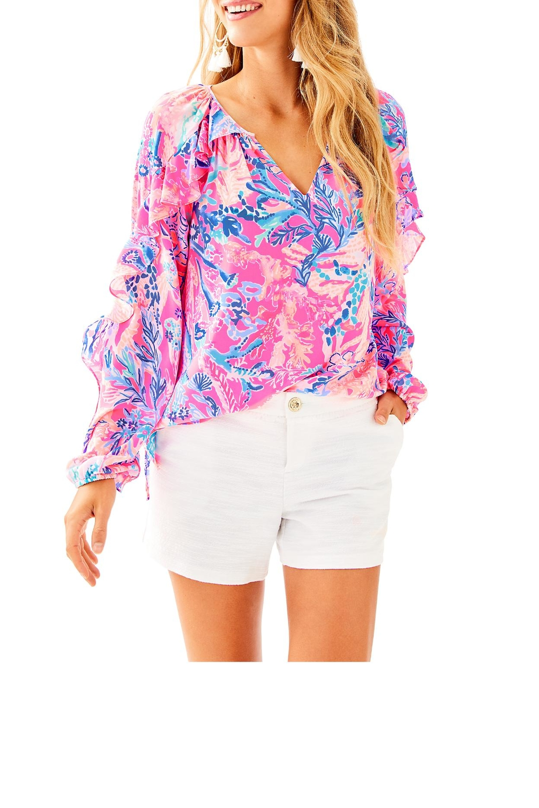 Lilly Pulitzer Callahan Party Short - Front Cropped Image