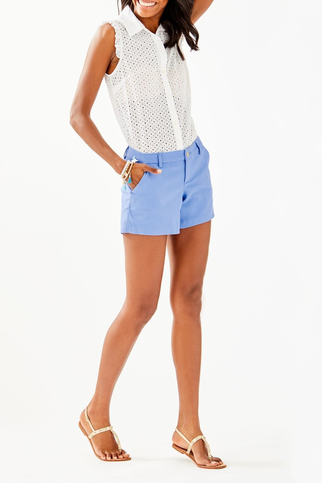 Lilly Pulitzer Callahan Stretch Short - Back Cropped Image
