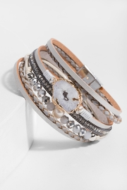 Saachi Callisto Leather Bracelet - Product Mini Image