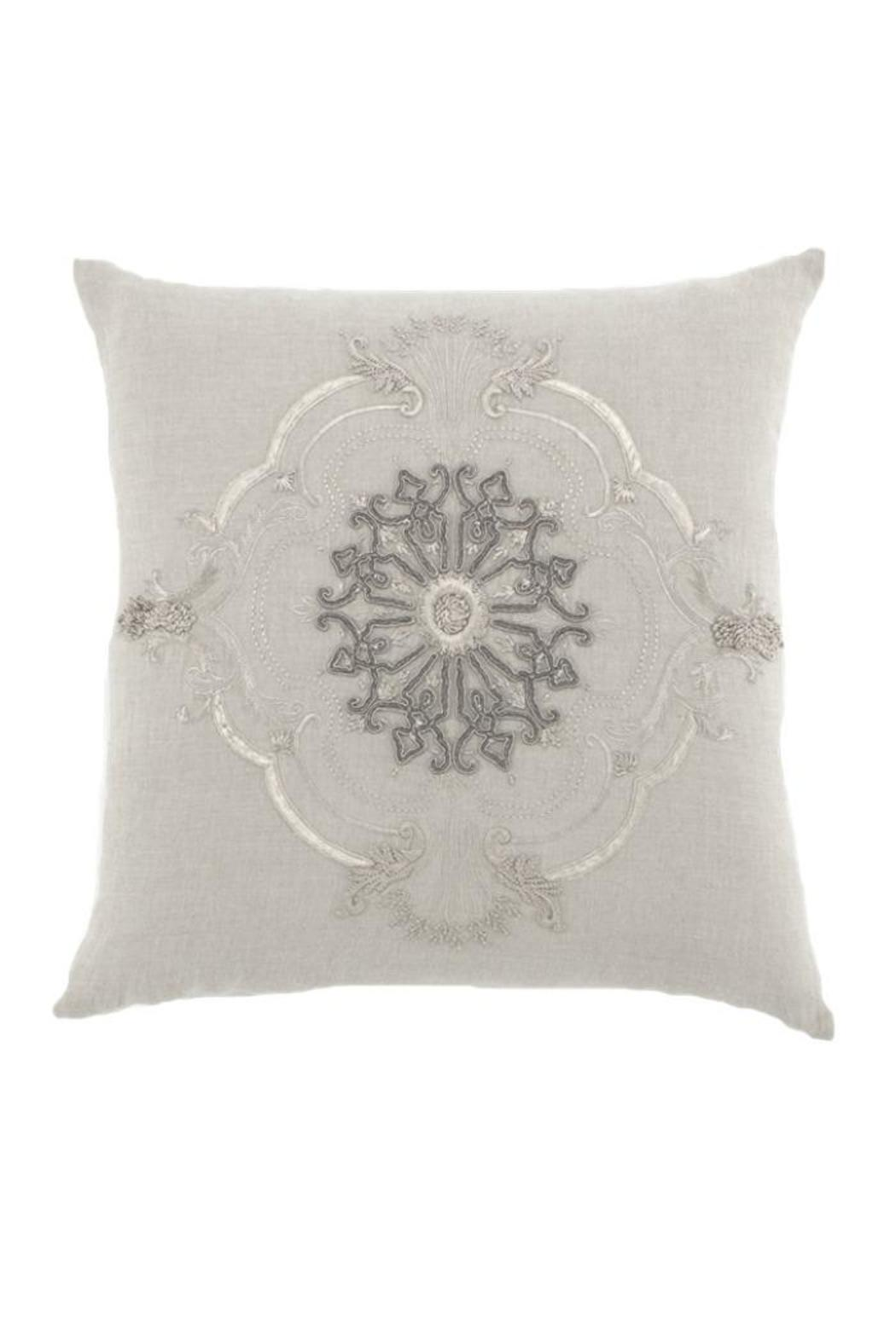 Callisto Home Linen Embroidered Pillow - Front Cropped Image