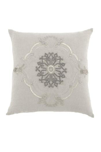 Shoptiques Product: Linen Embroidered Pillow - main