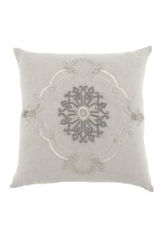 Shoptiques Product: Linen Embroidered Pillow