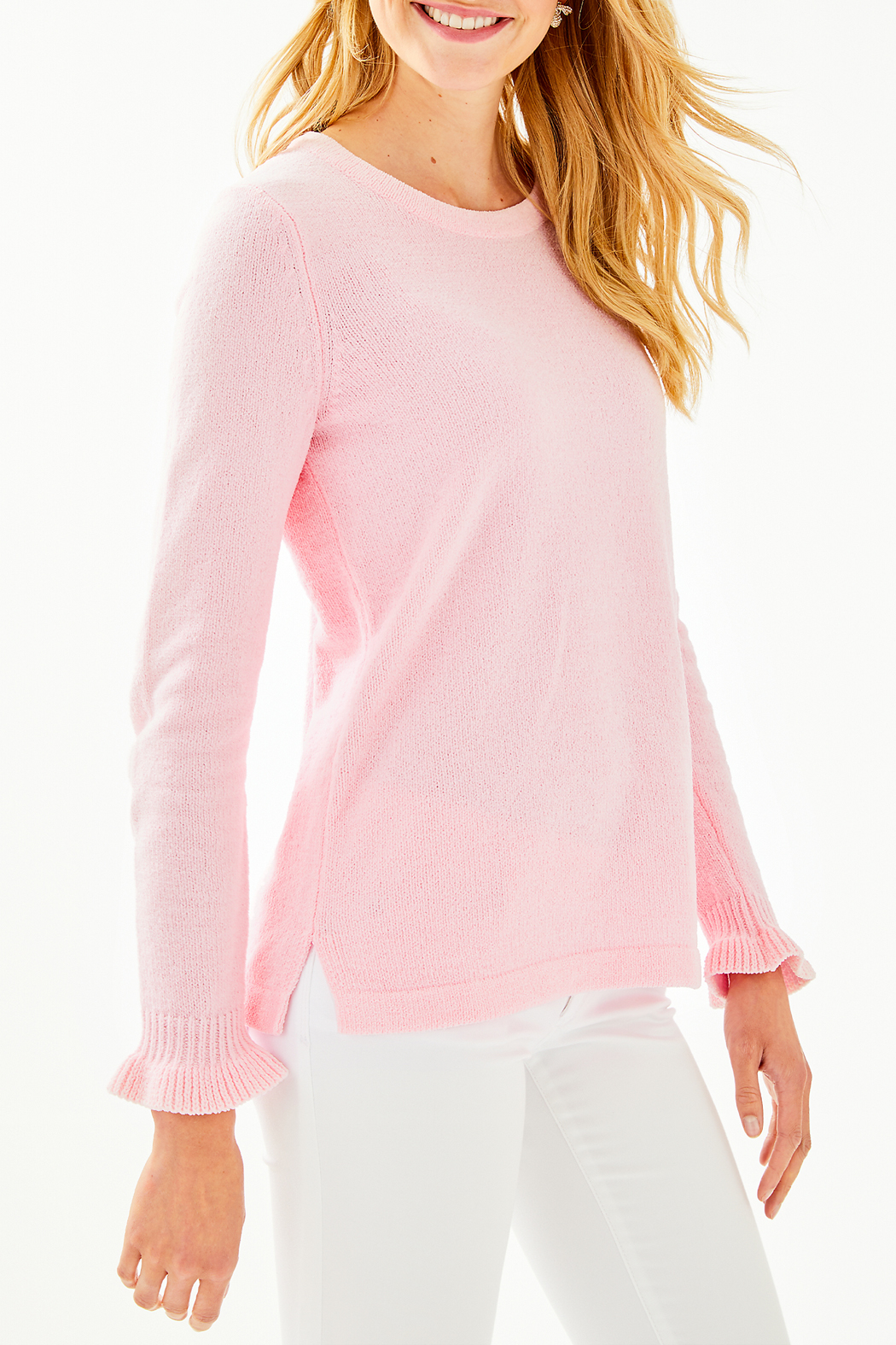 Lilly Pulitzer Calloway Chenille Sweater 004498 - Front Cropped Image
