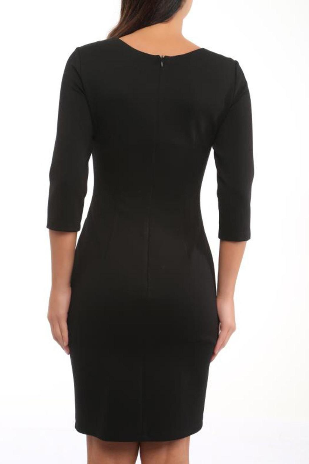 CALORE Fitted Black Dress - Front Full Image