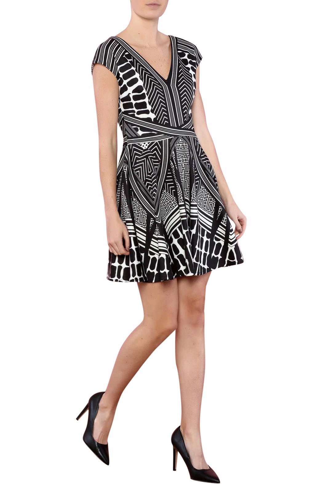 CALORE Geo Print Dress - Front Full Image
